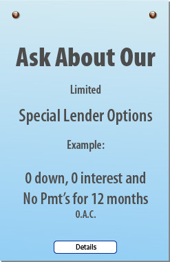 Limited Time Special Lender Options